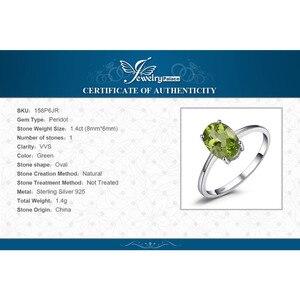 Image 5 - JewelryPalace oryginalna Peridot Ring Solitaire 925 srebro pierścionki dla kobiet pierścionek zaręczynowy srebro 925 kamieni szlachetnych biżuteria
