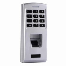 hot deal buy outdoor ip65 waterproof biometric fingerprint password code keypad door access control with rfid card reader