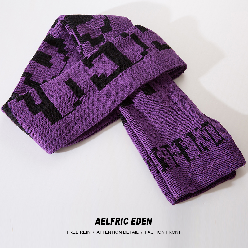 Knit Scarf Male Shawl Wrap Aelfric Letter Printed New-Fashion Hip-Hop Men Cotton BF04
