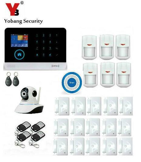 Yobang Security Wireless LCD Display 3G GPRS Alarm System Network Camera Surveillance WIFI SMS House Alarma Kits Motion Alarmes