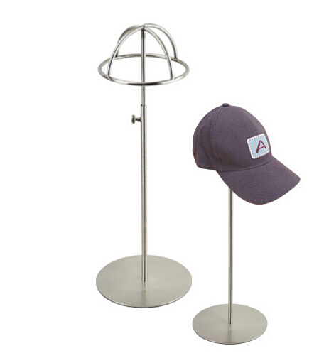 Metal Hat holder stand Silvery hat display rack stainless steel cap display rack desktop 49 golf ball display case cabinet holder rack w uv protection