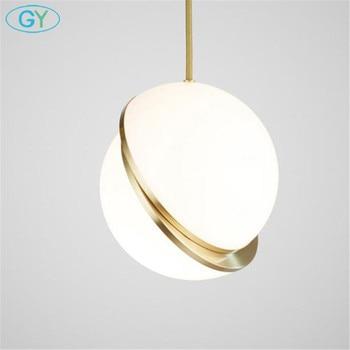 อุตสาหกรรม Globe จี้ไฟทองแก้วแขวนโคมไฟห้องครัวโมเดิร์นโคมไฟ D25cm D30cm D40cm แขวน