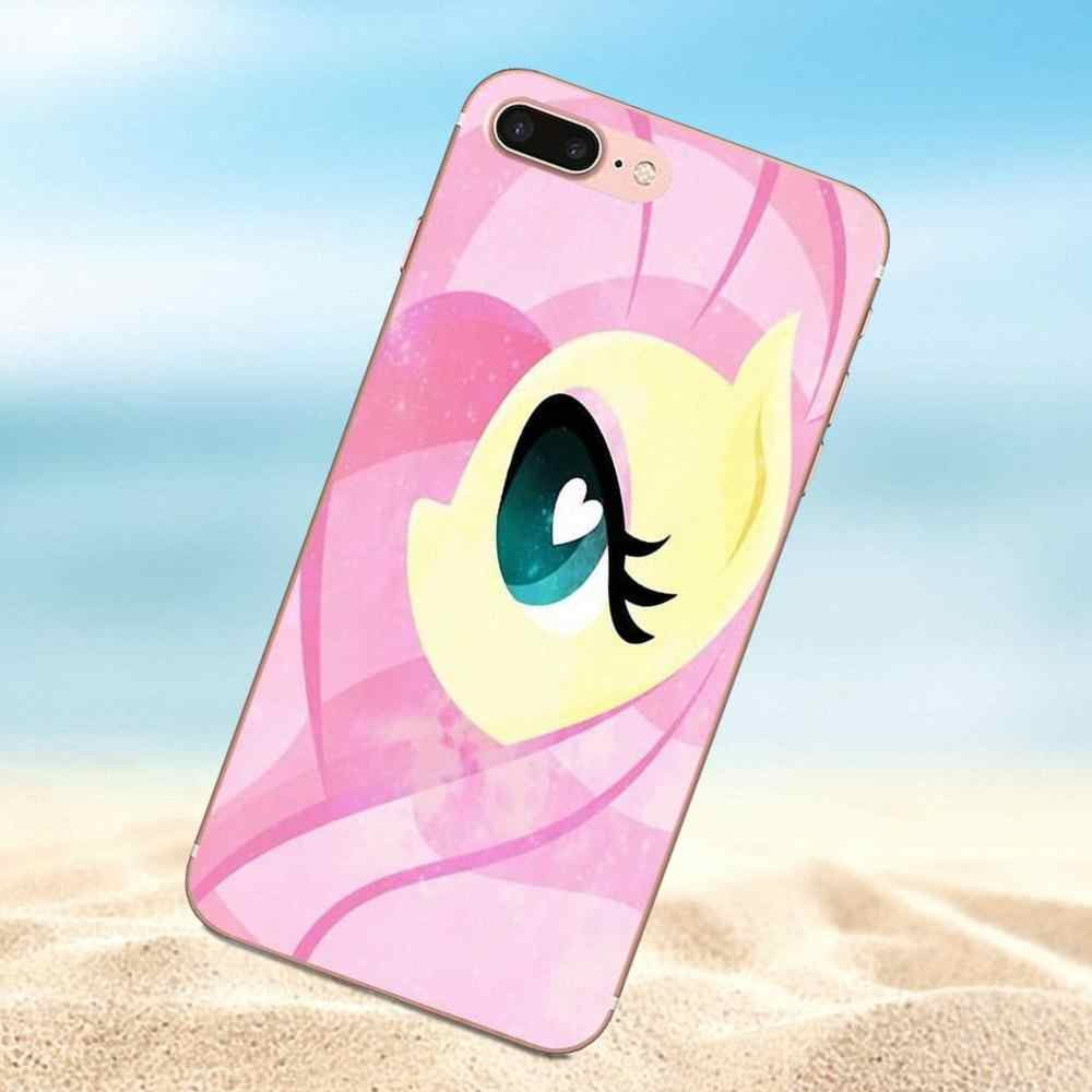 Qdowpz Для iPhone 4 4S 5 5C 5S SE 6 6 S 7 8 Plus X Мягкие TPU Телефон Coque Мультфильм Стиль My Little Pony