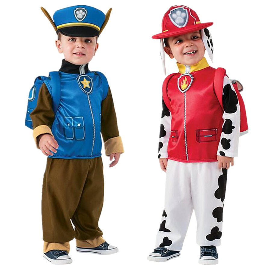 New Kids Carnival Clothing Children Patrol Dogs Marshall Chase Skye Cosplay Costume Boy Girl Halloween Party Role Play