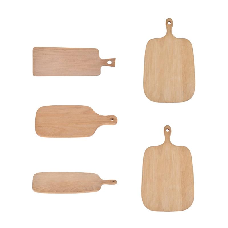Natural Wood Kitchen Chopping Blocks Kitchen Wood Food Plate Wooden Pizza Sushi Bread Whole Wood Tray Cutting Board No Paint