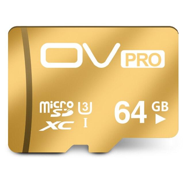 Реальная Емкость Оригинальный OV 64 ГБ PRO 90 МБ/С. microSDXC U3 Карты Памяти лучший Выбор Для Go Pro 4 К Видео Высокое Качество Бесплатная Доставка