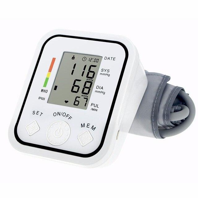 Полная Автоматическая предплечье измерять кровяное давление Мониторы S BP цифровой электронный тонометр импульса пульсометр