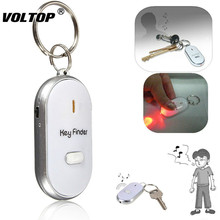 1pcs Keychain LED Finder Locator Find Lost Keys Chain Keychain Whistle Sound Control Key Ring цена