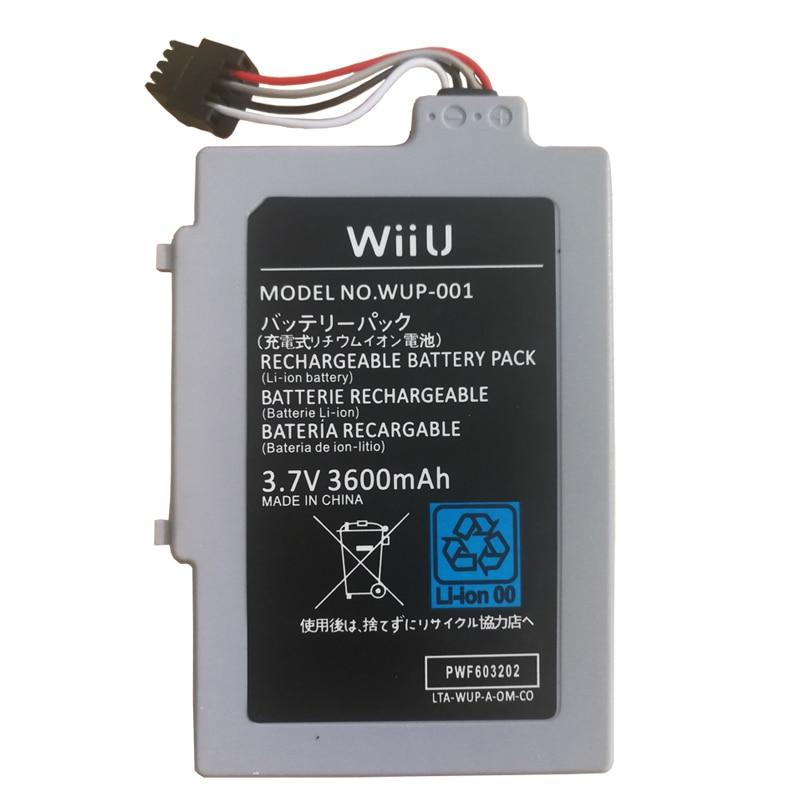 New 3600mAh Battery for Nintendo WiiU Gamepad Joystick Controller Bateria 3 7V Li Ion Rechargeable Batteries