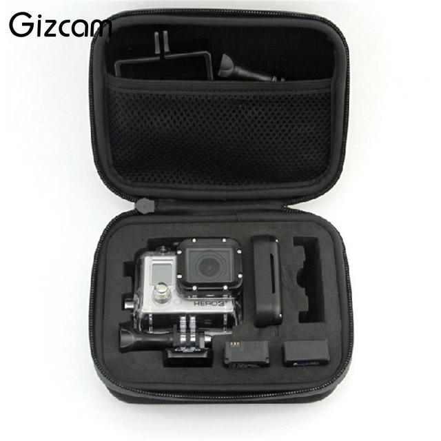 Gizcam Hot Sale Portable Travel Storage Case Collection Box for Gopro Hero 3/4 Sj 4000 Action Camera Sport Cam Go pro Accessory