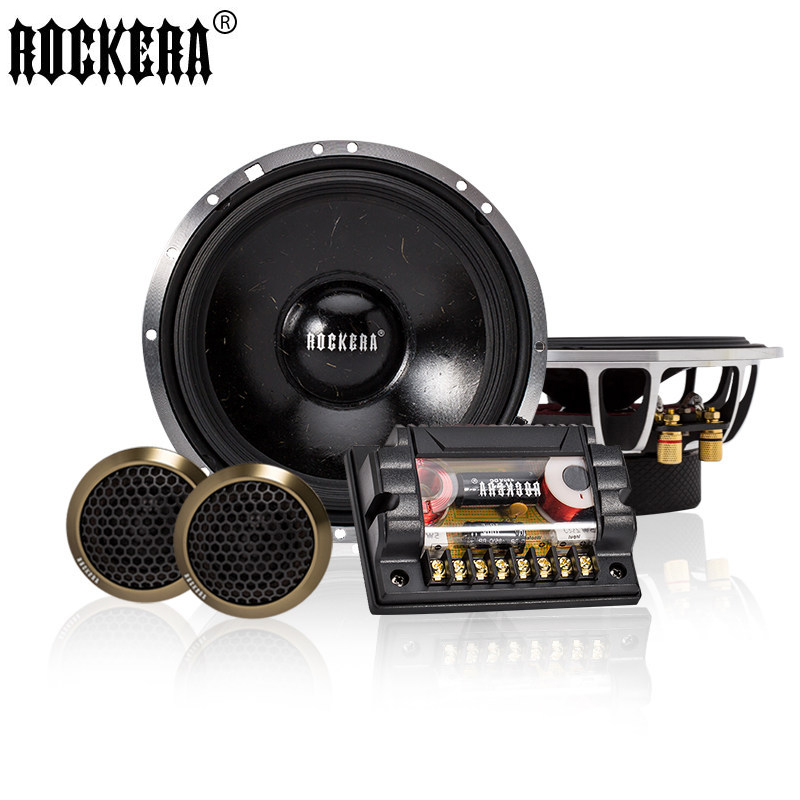 1 Set 280W Hot 6.5'' inch 2 Way Car Speaker Component 4ohm Automobile Automotive Car HIFI Edge Audio With Tweeter Cross Over hifine hi 520d 28mm tweeter component speaker for car audio system black pair