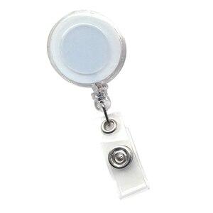 1 sztuk chowany Pull Key Ring Multicolor odznaka Reel smycz nazwa karta identyfikacyjna odznaka uchwyt bębnowy klucz zacisk okrągły