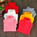 Crianças Blusas Para As Meninas Meninos Primavera Roupas de Inverno Blusas de Gola Alta Do Bebê malhas Crianças Tops 18 M 24 M 2 4 6 8 10 12 14Y
