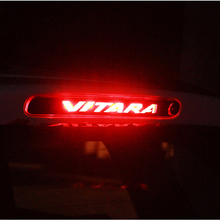 Задний тормозной светильник из углеродного волокна, декоративная крышка, наклейка s Чехол для Suzuki Vitara, автомобильный Стайлинг, дополнительные тормозные огни, наклейка
