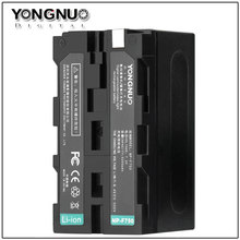 YONGNUO Original NP-F750 5200mAh Battery For Sony Camcorder 1500 1000C VX2000 & LED Video Light