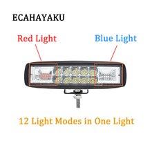 ECAHAYAKU 48W LED Work Light Bar Car warning lamp Driving Fog Offroad Lamp Vehicle Truck SUV ATV Led Styling