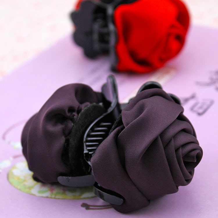 Hair headwear Rose flower cloth art stresses the clamp, free home delivery south korean hair headwear pearl rose flower hair bands free home delivery