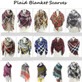 Womens Blanket Scarf Cashmere Winter Plaid Scarfs Warm Women Hijab Wool Tantan Women's Bandana Shawls Stoles Ponchos and Capes