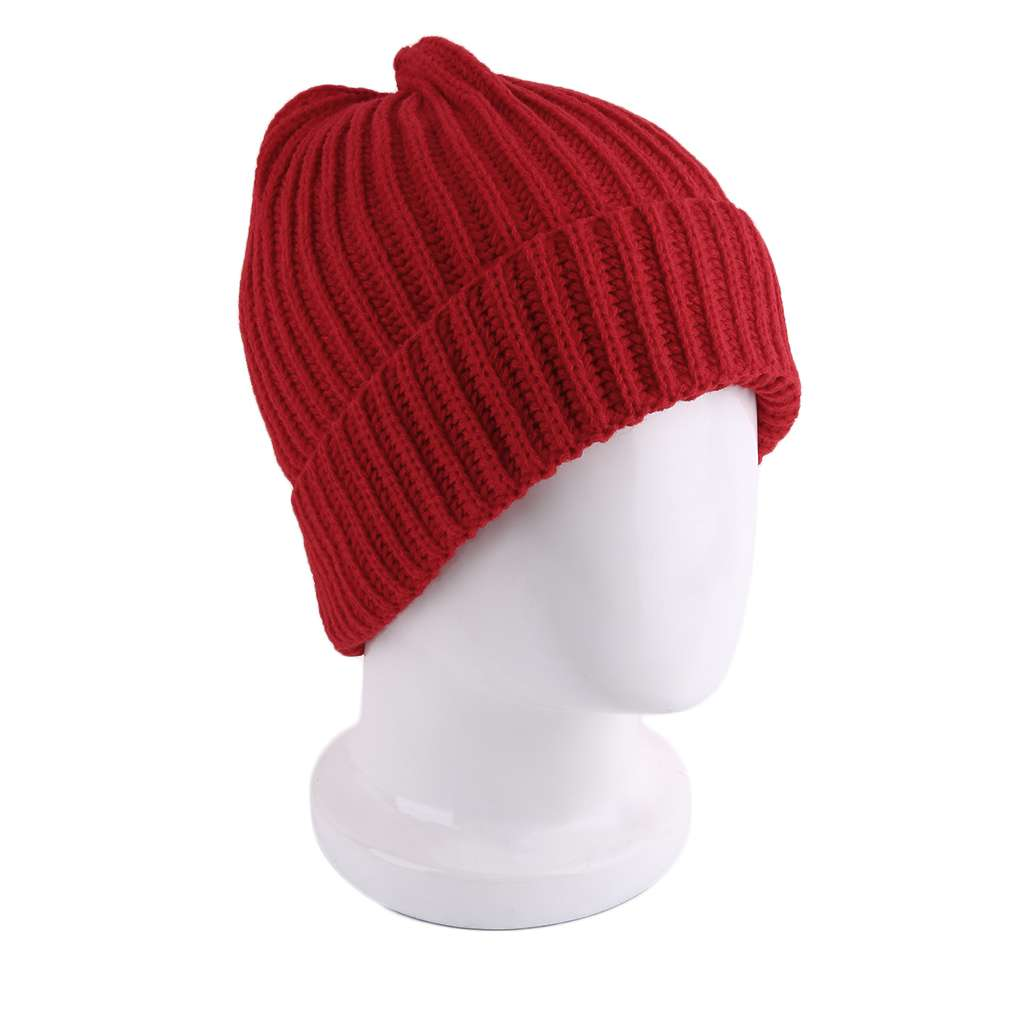 Fashionable Design Solid Color Stripe Style Beanies Men Women Unisex Knitted Comfortable Keep Warm Winter Casual Cap  цены