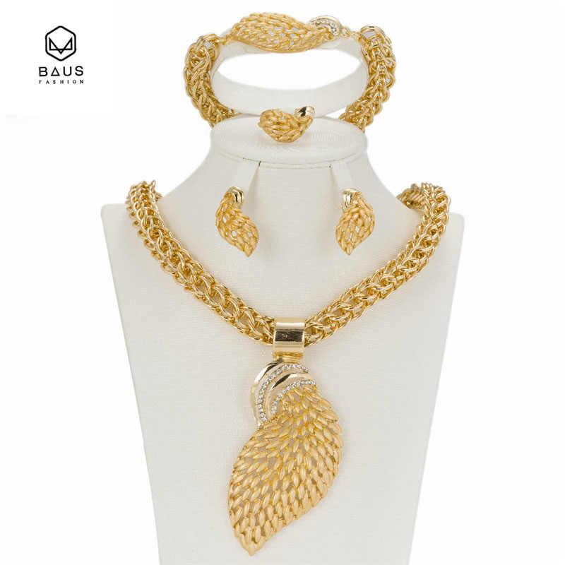 סט 2017 תכשיטים אפריקאים אופנה בצבע זהב טבעות צמידי עגילי אביזרי סט תכשיטי חתונה כלה גביש חיקוי