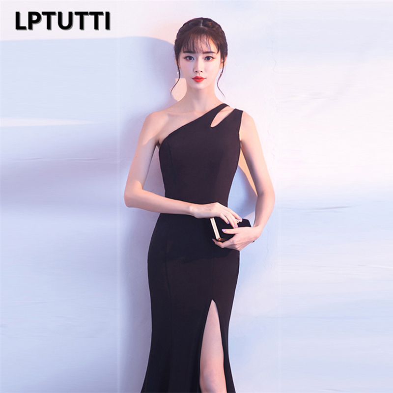 Image 4 - LPTUTTI One shoulder Split Graduating New For Women Elegant Date Ceremony Party Prom Gown Formal Gala Luxury Long Evening Dress-in Prom Dresses from Weddings & Events