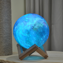 Galaxy Print LED Moon Lamp