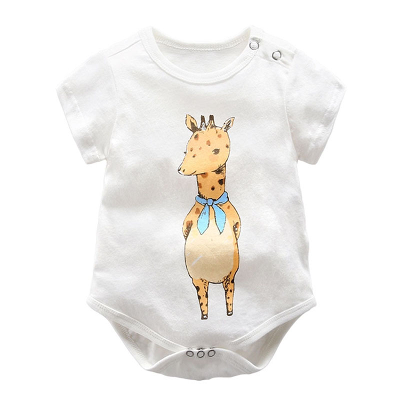 Baby Clothes Pajamas Newborn Baby Rompers Cartoon Infant Short Sleeve Jumpsuits Boy Girl Autumn Spring Unisex Baby Clothes 0-12M