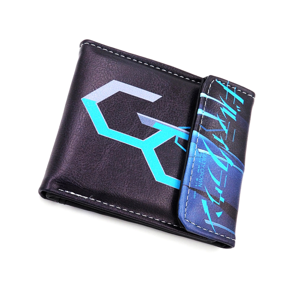 Zshop Steins Gate Short Purse El Psy Congroo Wallet Men Boys Girls Teenagers Black Long Purse Card Holder Carteira 100% High Quality Materials Wallets Men's Bags