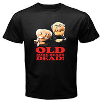 2018 Short Sleeve Cotton T Shirts Man Clothing New Grumpy Old Men Retro 1980S Muppets Men