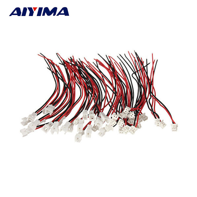 Aiyima 20 Pair Micro JST 1.25 2-Pin Male and Female Connector plug with Wires Cables