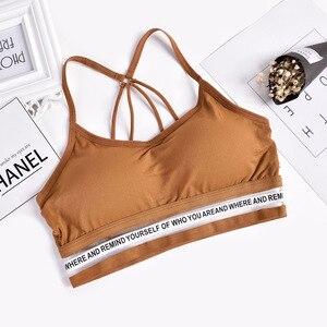 Image 3 - 2020 إمرأة مثير عادية سليم أكمام تانك القمم الصدرية بلون المحاصيل الأعلى للسيدات قميص لياقة بدنية النساء الملابس بلايز