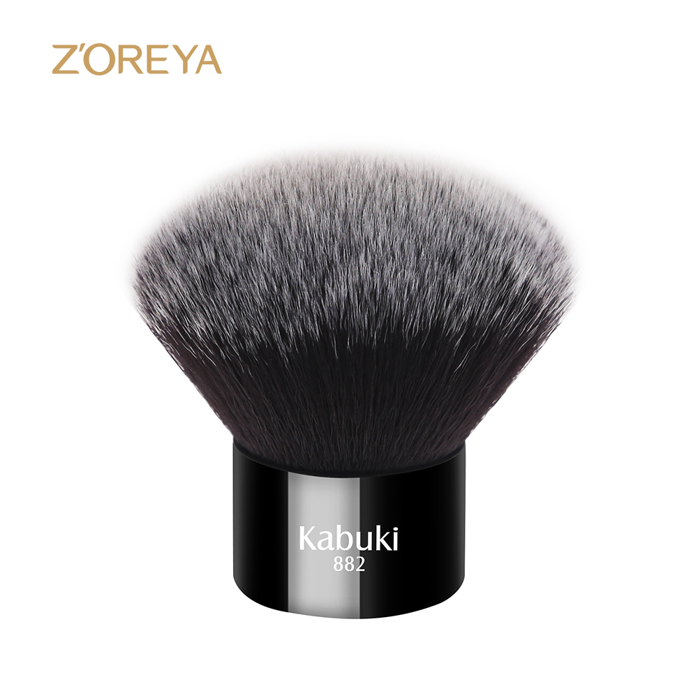 ZOREYA New Arrival Short Kabuki Powder Makeup Brush Portable Used With Concealer Contour Blush Make Up Brushes Cosmetic Tool Kit new portable flat contour makeup brush used with powder blusher concealer make up brushes as beauty cosmetic tool maquiagem
