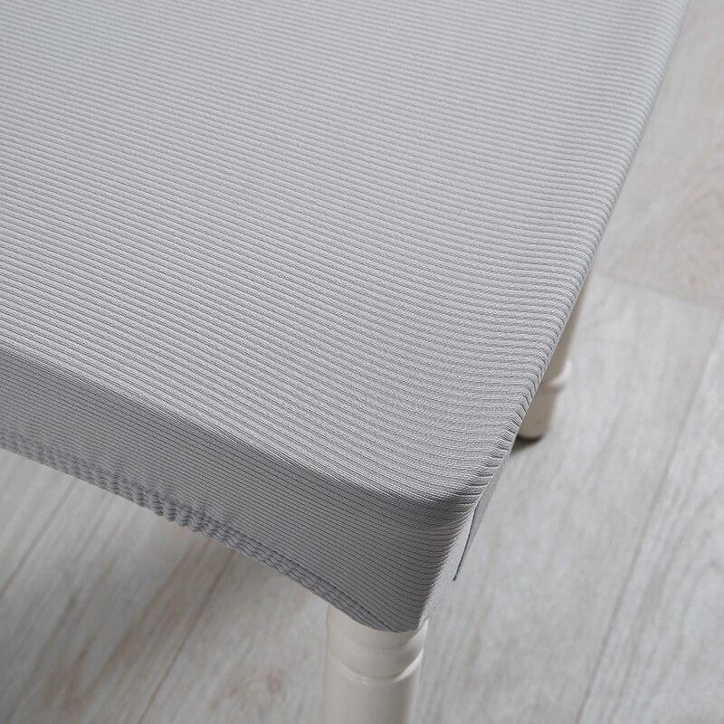 Свет Серый цвет стретч крышка стула спандекс ткань стул охватывает Ресторан отеля вечерние банкетные чехлов украшения дома
