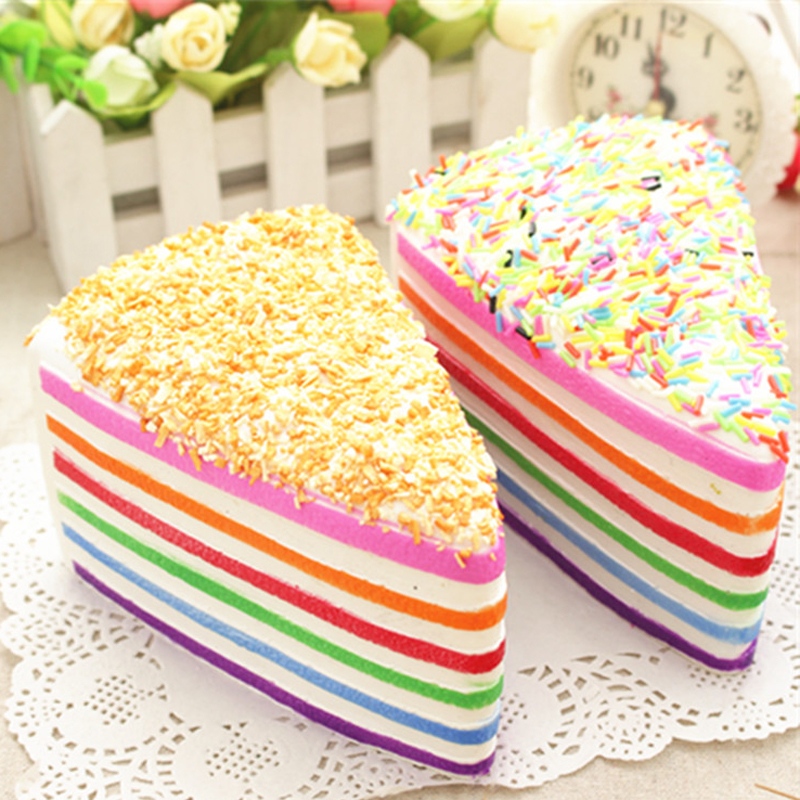 Squishy Cake Slice : Aliexpress.com : Buy 1 PCS/Lot New Rare Squishy Jumbo Rainbow Shortcake Slice Super Slow Rising ...