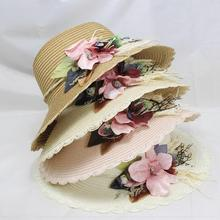 SUOGRY 2019 New Arrival Wide Brim Sun Hat Woman Summer Straw Cap Students Flower Slim Beach Girls Outside Travel