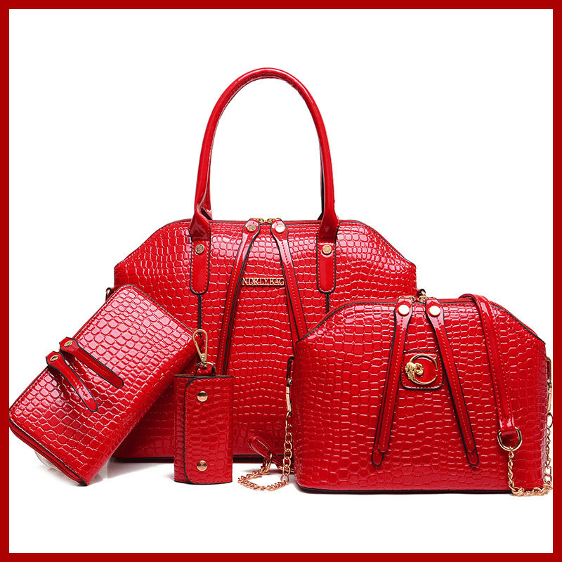 2015 High-grade Leather Women Crossbody Shoulder Bag Handbags+Messenger Bags+Purse+Wallet 4 sets bolsas femininas 9 colors 168-6 women messenger bags 2015 100% crossbody women bag