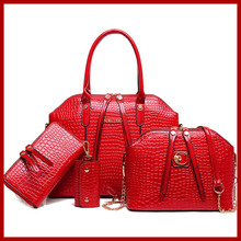 2015 de alto grado de mujeres del cuero Crossbody empaqueta los bolsos de hombro + Messenger Bags + monedero + Wallet 4 sets bolsas femininas 9 colores 168-6