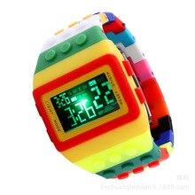 Nueva Luz colorida de Plástico de Los Niños Del Cabrito Del Arco Iris Original de S choque Reloj Estudiantes led Reloj reloj Digital de Niño y Niña Mujer