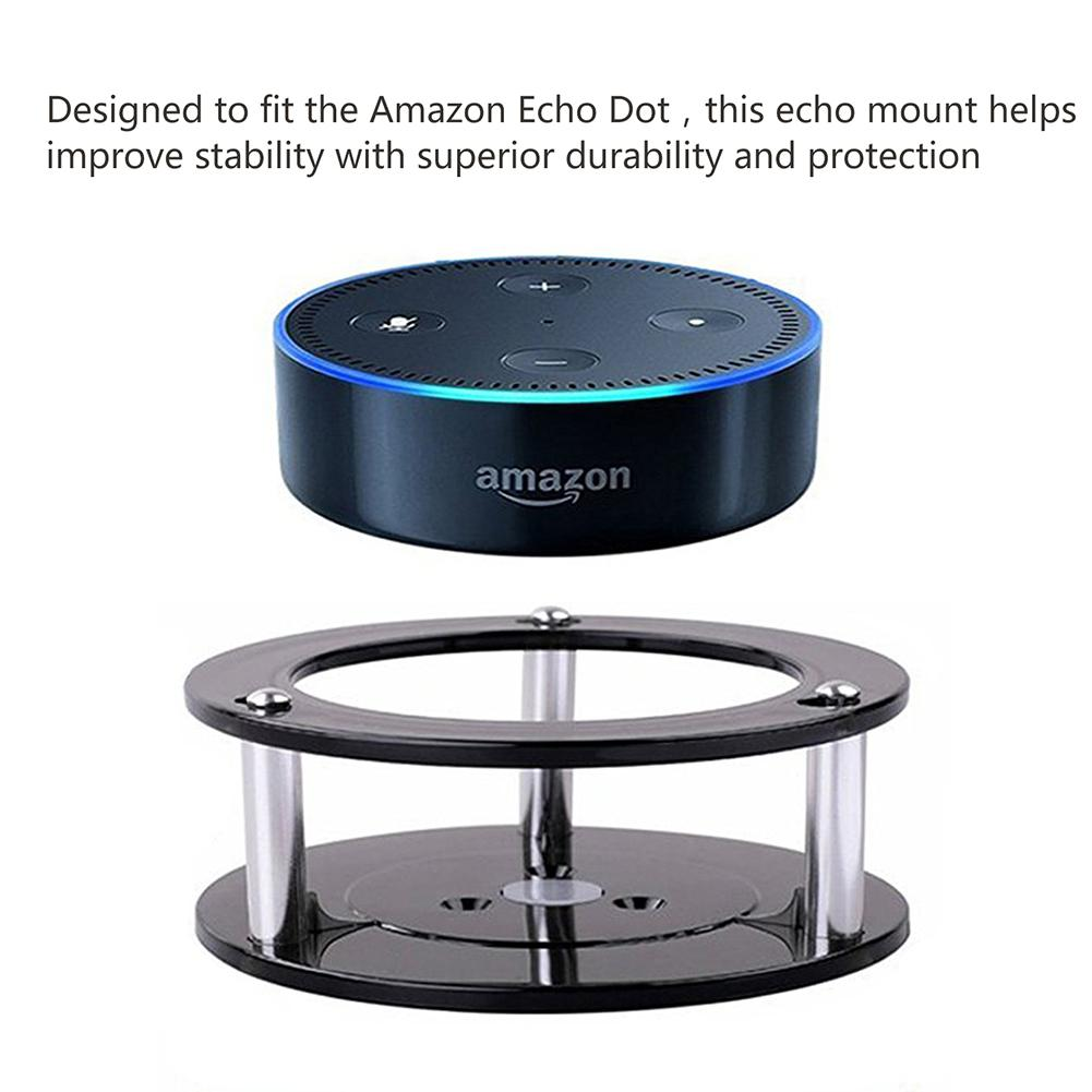 US $7 4 20% OFF New Speaker Stand Wall Mount Holder for Amazon Alexa Echo  Dot 2 Generation Enhanced Stability Acrylic Speaker Holder With Cable-in