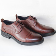 Business Men's Basic Casual Dress Shoes,Elegant Genuine Leather Round Black/Brown Flat,Meeting Office Formal Big Size