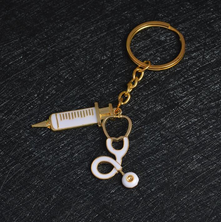 Super Jisensp Nuovo Arrivo Siringa Stetoscopio Keychain Medico  ZT79