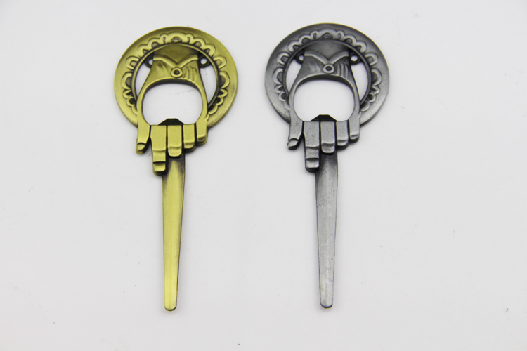 ZRM 20pcs/lot Song of Ice And Fire Game of Throne bottle opener Keychain Hand Of The King Beer Opener Keyring Lord Jewelry replacement air compressor spares for atlas copco mpv kit 2901000600