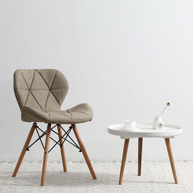 Современный минималистичный стол компьютерный стул домашний Ресторан обеденный стул из твердой древесины скандинавский диван спинка макияж пляж - Цвет: T