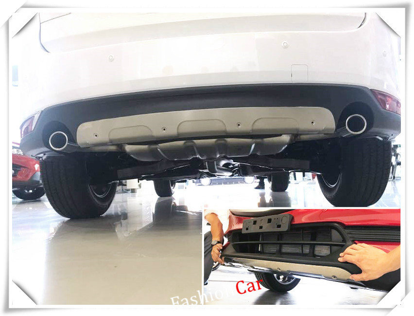 For Mazda CX-5 2017 2018 stainless Front and Rear bumper skid protector guard plate accessories car styling for mazda cx 5 cx5 2017 2018 rear door sill plate protector tail trunk bumper guard cover trim car styling accessories