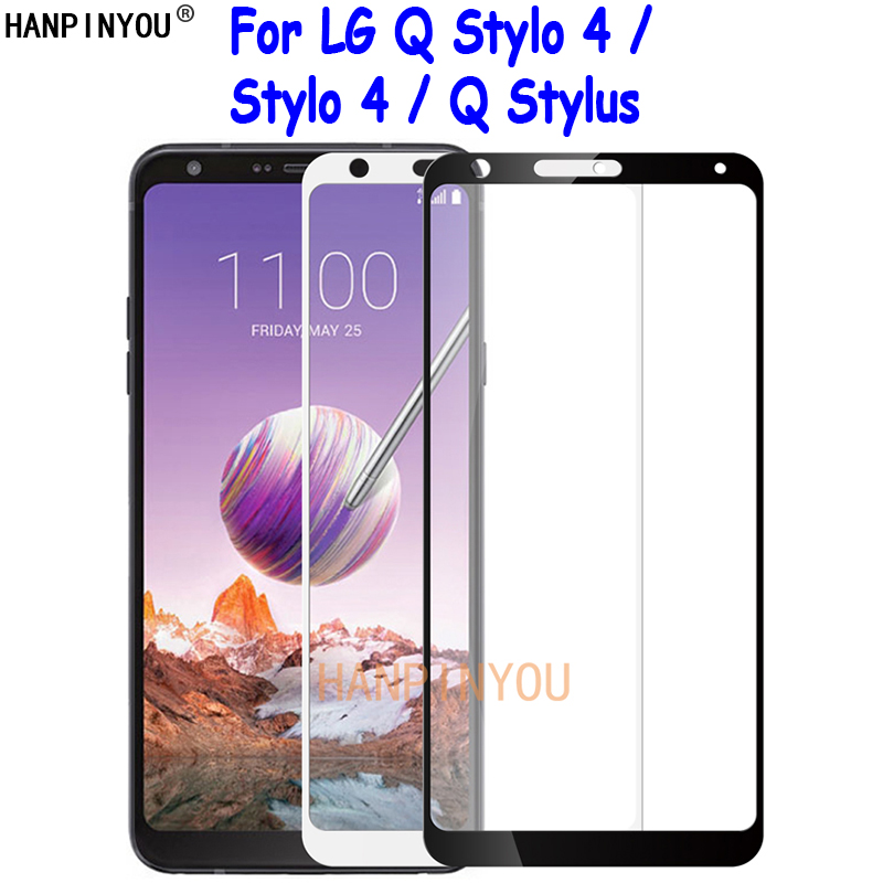 For LG Q Stylo 4 Stylo4 Stylus+ Stylus Alpha Plus Full Cover Tempered Glass Screen Protector Ultra Thin Premium Protective Film