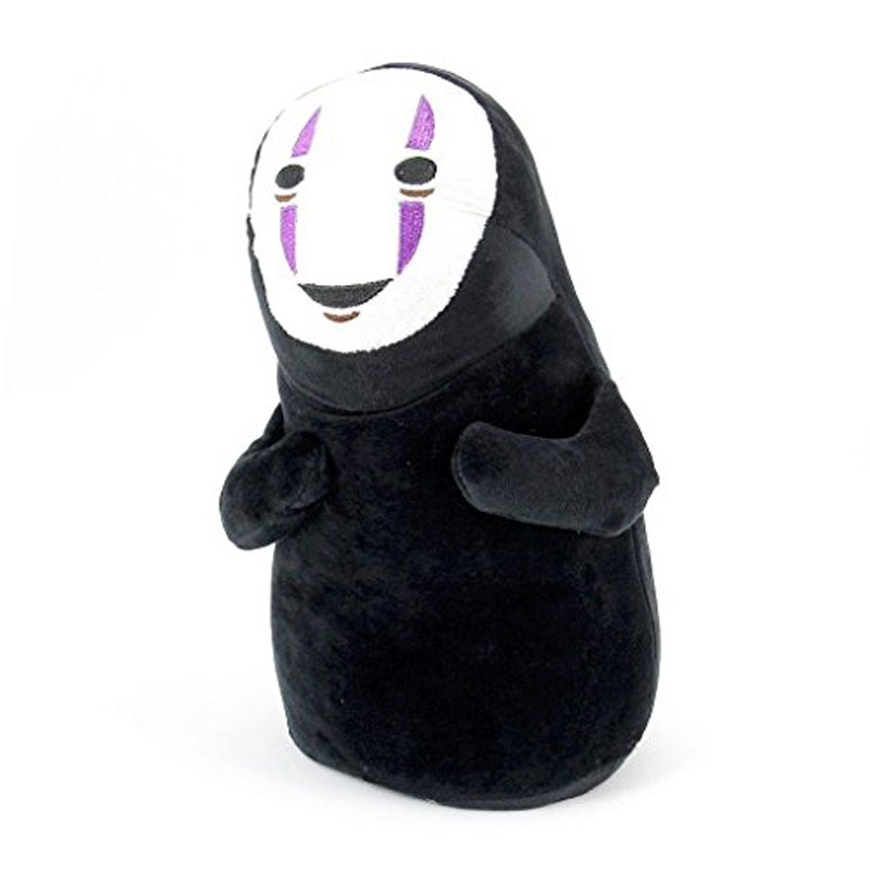 11inch Cute Cosplay Spirited Away Faceless Black No Face Gost Plush Anime Stuffed Toy Black Doll