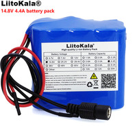 LiitoKala 14.8V 4.4Ah 18650 li iom battery pack night fishing lamp heater miner's lamp amplifier battery with BMS