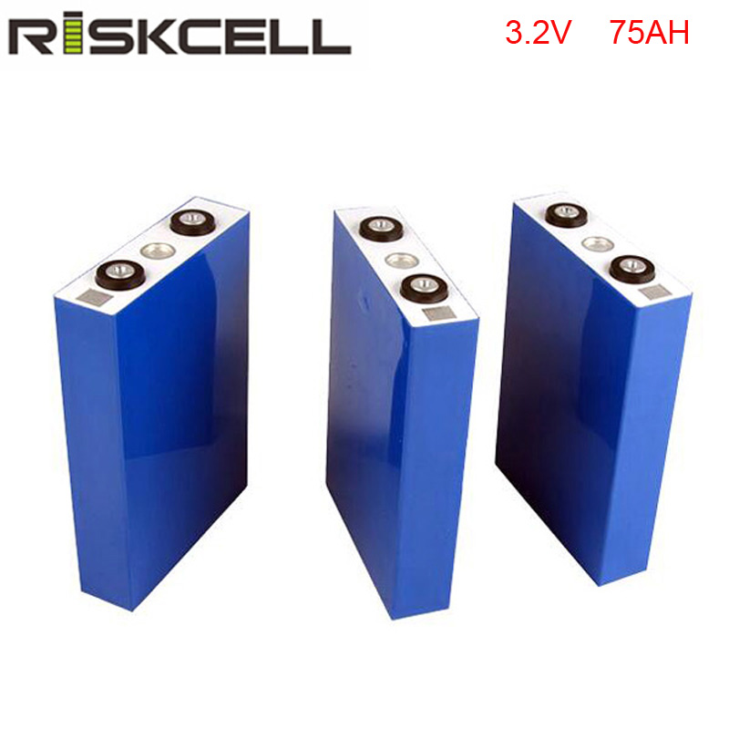 12PCS/LOT 3.2v 75ah rechargeable lifepo4 battery for energy storage system,solar ,electric bike,golf car ,ups 1pcs gbs lifepo4 battery 3 2v400ah for electric car solar ups energy storage etc