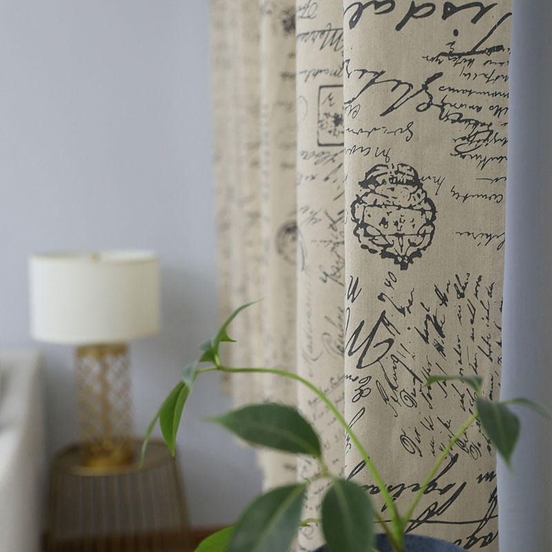 Image 2 - European Modern Print Blackout Curtain Solid Shading for Bedroom Livingroom Kitchen Window Treatment Blind Drape Home Decoration-in Curtains from Home & Garden