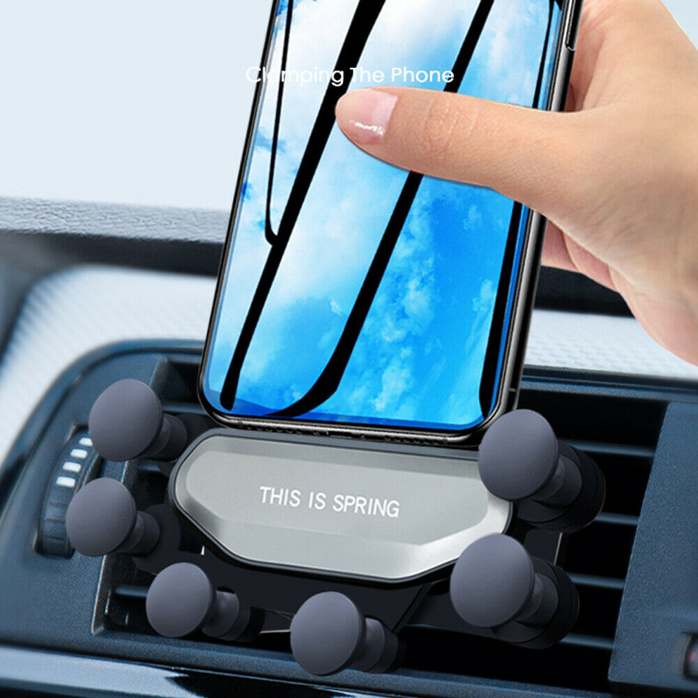 Universal 360 Degree Gravity Car Air Vent Mount Holder Stand 7-Point Support Auto Grip Mobile Cell Phone GPS Holders